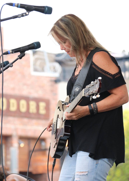 Margit Gossage playing at Hot Nite in the City, Kamloops, BC