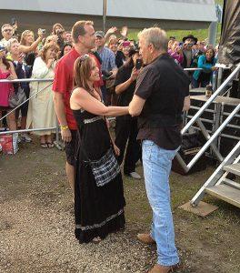 Margit Gossage and Kevin Costner at Sun Peaks