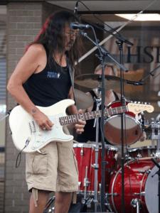 Rod Bandura playing at Hot Nite in the City, Kamloops, BC