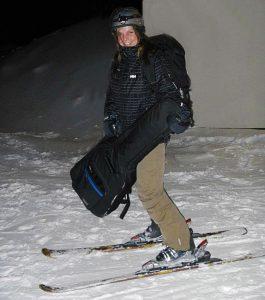 Margit Gossage at the Torchlight Ski Sun Peaks, BC
